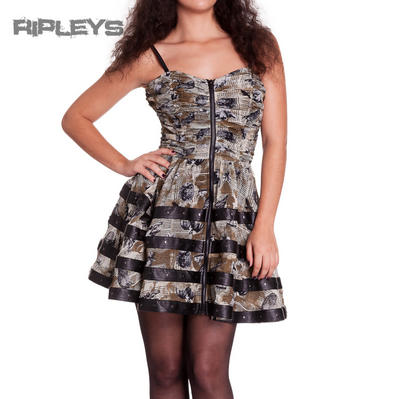 HELL BUNNY Club MINI DRESS Steampunk LUNA Goth Lolita Grunge All Sizes